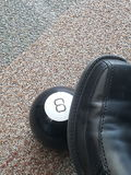 8 ball shoe Royalty Free Stock Photography