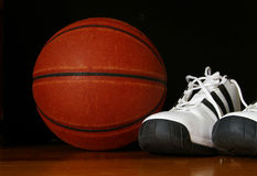 Ball and shoes Royalty Free Stock Images