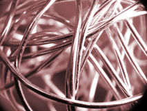 Ball of silver wire Royalty Free Stock Image