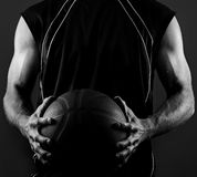 Ball Skills. Image of a basketball player holding a basketball Stock Images