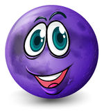 A ball with a smiling face Royalty Free Stock Images