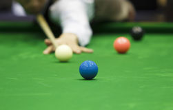 Ball and Snooker Player Stock Photos
