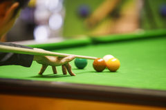 Ball and Snooker Player Stock Images