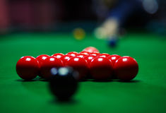 Ball and Snooker Player Royalty Free Stock Image