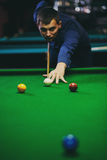 Ball and Snooker Player Royalty Free Stock Photography