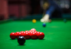 Ball and Snooker Player Royalty Free Stock Images