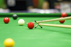 Ball and Snooker Player Royalty Free Stock Photos