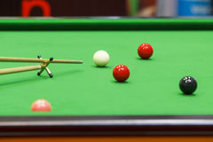 Ball and Snooker Player Stock Image