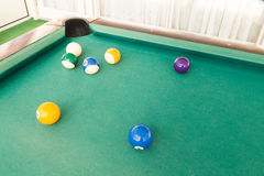 Ball is snookered or trapped during snooker billards game. Ball in snookered or trapped situation during snooker billards game Stock Images