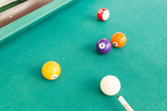 Ball is snookered or trapped during snooker billards game. Ball in snookered or trapped situation during snooker billards game Stock Photos