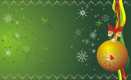 Ball and snowflakes. Christmas banner Royalty Free Stock Photos