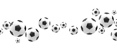 Ball soccer football 3d render football balls Stock Photos