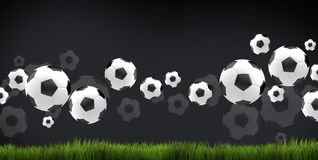 Ball soccer football 3d render football balls Royalty Free Stock Photography