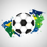 Ball soccer olympic games brazilian flag colors. Vector illustration eps 10 Royalty Free Illustration