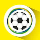 Ball soccer olympic games brazilian flag colors. Vector illustration eps 10 Stock Illustration