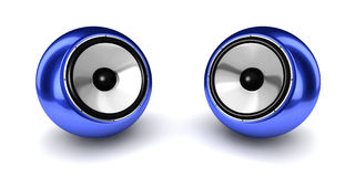 Ball Speaker Pair Royalty Free Stock Photos