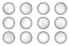 Ball sphere dot abstract dotted design element set vector illustration Royalty Free Stock Image