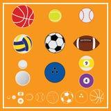 Ball-Sport-Vektor und Ikone Lizenzfreie Stockfotografie