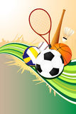 Ball sports background Stock Photo