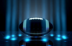 Ball On Spotlit Stage Royalty Free Stock Image