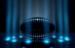 Ball On Spotlit Stage Royalty Free Stock Images