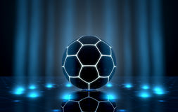 Ball On Spotlit Stage Stock Image