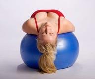 ball stability woman Στοκ Φωτογραφίες