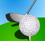 Ball and stick golf. Two tools that should be there if you want to play golf royalty free illustration