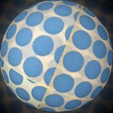 dots on globe Royalty Free Stock Photo
