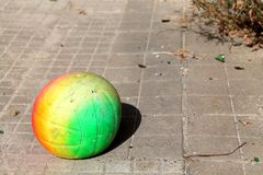 Ball. Street color game pavement Stock Images