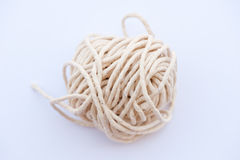 Ball of string. An isolated image of a ball of string royalty free stock photo