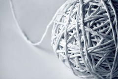 Ball of String. On white background royalty free stock photo
