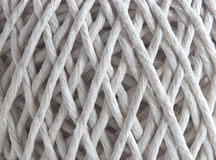 Ball of string in close up. An extreme close up of a ball of string texture royalty free stock images