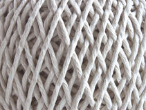 Ball of string in closeup. A macro closeup of a ball of string royalty free stock images