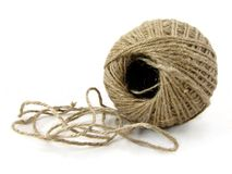 Ball of String isolated Royalty Free Stock Photos