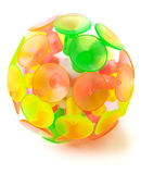 Ball with suckers Royalty Free Stock Photos