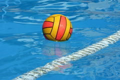 Ball in swimming pool Royalty Free Stock Photos