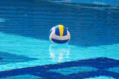 Ball in swimming-pool Stock Photo