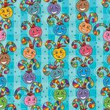 Ball swirl vertical seamless pattern Stock Photo
