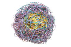 Ball of tangled wires Royalty Free Stock Photos