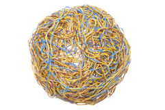 Ball of tangled wires Stock Photos