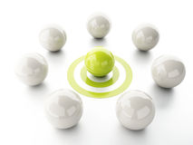 Ball on target. business leadership success concept Stock Photo