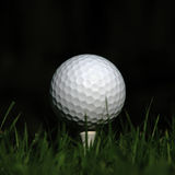 Ball on the tee Royalty Free Stock Photos