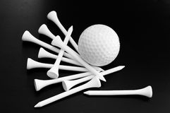 Ball and tees Stock Photography