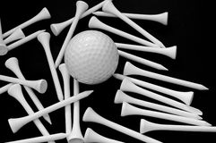 Ball and tees Stock Images