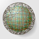 Ball with the texture of fabric and within the gri Stock Photo
