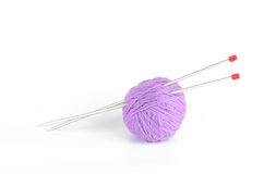 A ball of thread and needles Stock Photo