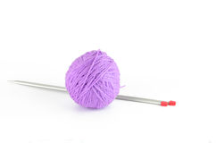 A ball of thread and needles Stock Photos