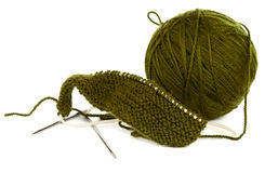 A ball of thread to knitting Royalty Free Stock Photography