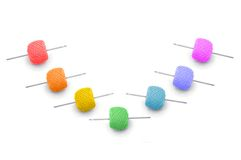 Ball of the threads. Colour balls of the threads with spoke Stock Images